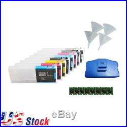8pcs Ep son Stylus Pro 4880 Refill Ink Cartridges with Funnels, Chips Resetter