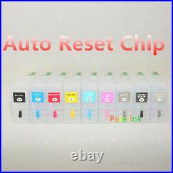 9 Empty Refillable Ink Cartridge kit T850 850 P800 alternative for
