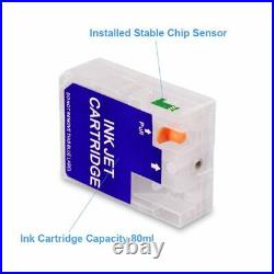 9Colors/Set Empty Refillable Ink Cartridge For Epson Stylus Pro 3800 3880 80ML