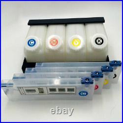 Bulk Ink System for Roland, Mimaki, JV33 JV5 JV3 TS3 4Cartridge 220ml + 4Bottles