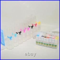 EMPTY Dye Pigment refillable cartridge CISS ink system for Stylus R2000 Printer
