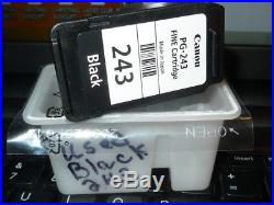 Empty Canon PG-243 BLACK ink cartridge NO INK Free Shipping