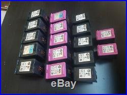 Empty HP 62, 62XL ink cartridges. Lot of 17