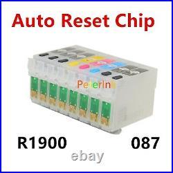 Empty / Pigment Ink refillable cartridge kit R1900 T087 087 87 alternative for