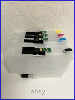Empty Refillable Cartridges for Brother LC3037 LC3039 plus Refill Ink Chip reset