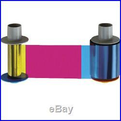 Fargo YMCKK Full-Color Ribbon with Black Resin Panels for HDP5000 Printers