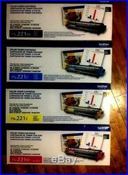 Genuine Brother TN-221BK, TN-221C, TN-221M, TN-221Y Toners MFC-9340CD Read descr