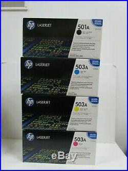 Genuine HP Q6470a Q7582a Q7582a Q7581a Kcmy Toners 501a 503a New Sealed