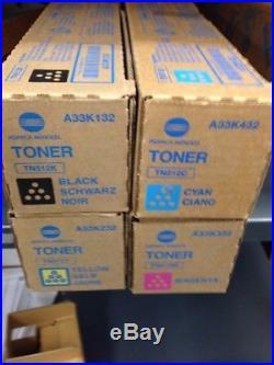 Genuine Oem Brand New Konica Minolta Tn512k Tn512m Tn512y Tn512c Toners Set Of 4