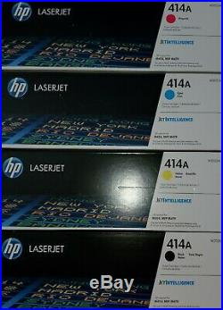 Genuine set of HP 414A toners W2020A W2021A W2022A W2023A New in boxes