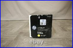 HP 128A Laser Jet Black, Magenta and Yellow Print Cartridge (Lot of 3)