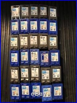 HP 21/22/27/28/56/57 Empty Ink Cartridges 100% Genuine Oem Big Lot