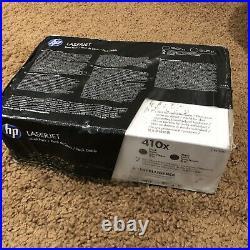 HP 410X Factory Sealed Genuine Toner Cartridges CF410XD Dual Pack Black