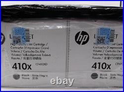 HP 410X Genuine Toner Cartridges CF410XD Dual Pack Black Factory Sealed