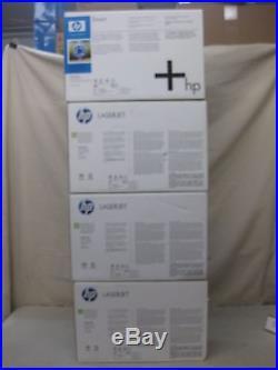 HP 4700 Toner Set Q5950A Q5951A Q5952A Q5953A New Genuine Shelfworn Boxes Sealed