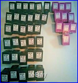 HP Ink Cartridges Empty/Untested Lot of 31 901 Black, 1 901XL 10 Tri-Color