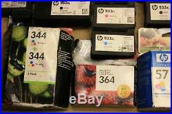 Job Lot X 167 HP Mixed Empty Printer Ink Toner Cartridges For Parts