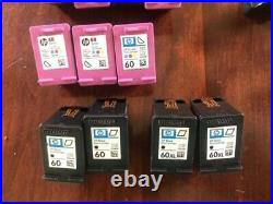 LOT 32 empty virgin HP 63 / 60 ink cartridges for refill or recycle. XL incl
