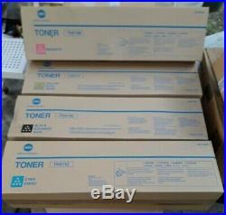 LOT DE 4 TONERS Konica Minolta TN411K TN611C TN611M TN611Y