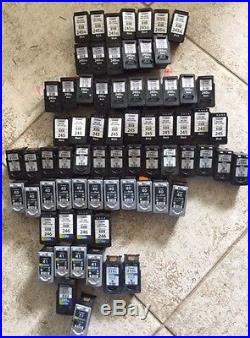 LOT OF 70 Virgin EMPTY Ink Cartridges Canon PG-245XL, 240XXL. Never Refilled