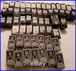 Lot Of 96 Empty Canon Assorted 100% Virgin Oem Inkjet Cartridges