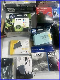 LOT of 53 EPSON, LD, HP, PIXMA, G&G, UP& UP. NEW & EMPTY Ink Cartridges