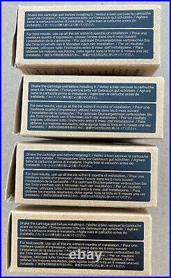 LOT4 EPSON EMPTY INK CARTRIDGE SC-P800 USED VIRGIN Yellow Cyan Black Mage REFILL