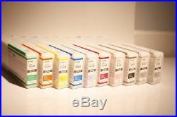 Lot 10 OEM Epson 9900 Half Full/empty 700 ml Ink Cartridges 7890,7900, 9890