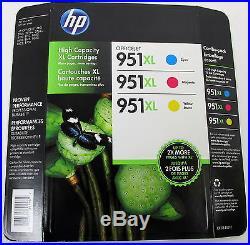 Lot 19 Genuine HP Printer Ink Cartridges (7) 950xl Black & (12) 951xl 4 Ea Color