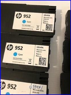 Lot 47 Virgin HP Empty Ink Cartridges 16 HP 952XL BLACK & 31 HP 952 COLOR CYM