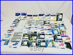 Lot 50x Epson, HP & Okidata Factory Sealed Ink Cartridges Mixed Models