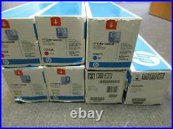 Lot 7! Genuine HP 304A Toner Magenta Yellow Cyan Black CC531A CC532A CC533A