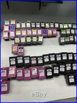 Lot Of 120 Empty Hp Compatible/non Oem Cartridges Hp60,61,62,63,65,21,22,901
