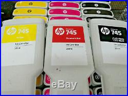 Lot Of 170 HP #745/hp # 727 Mixed Color Ink Cartridge Empty/untested/genuine