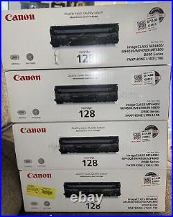 Lot Of 2 Canon Genuine 128 Black Toner Printer Cartridge D500 Series Oem Sealed