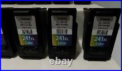 Lot Of 24 Virgin Empty Canon 241 Color + 240 Black Ink Cartridges Never Refilled
