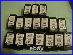 Lot of (120) Empty Canon PIXMA and mix HP INK and 20 generic Canon / HP