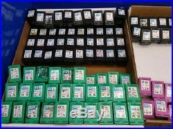 Lot of 179 Virgin hp Empty Ink Cartridges (74/75/901 Black & Color/Regular & XL)