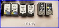 Lot of 18 CANON 245XL, 246XL, 240XL, 241XL & 211 & 210XL Used Empty Cartridges