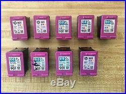 Lot of 29 HP 901 Ink Cartridges 11 Black/ 9 Black XL/ 9 Color EMPTY USED VIRGIN