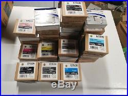 Lot of 40 Epson Ink cartridges empty 3800/3880 T5801 T5802 t5803 t5804 t5805t580