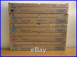 Lot of 5 Genuine Konica Minolta TN321K TN321M TN321Y (x2) TN321C Toners A33K230