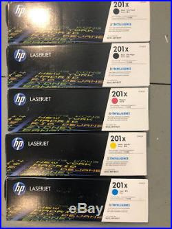 Lot of 5 sets genuine HP 201X empty/used ink cartridges + 2 extra black