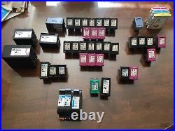 Lot of (50) Virgin Empty Genuine HP 61XL, 901XL, 63XL, 950XL Etc Black/Tri-Color