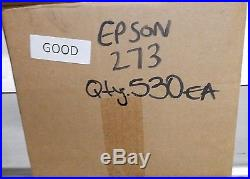 Lot of 530 EPSON 273 VIRGIN GOOD PRODUCT Empty Ink Tanks LOT#542