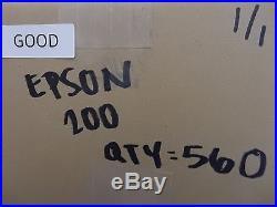 Lot of 560 EPSON 200 VIRGIN GOOD PRODUCT Empty Ink Tanks LOT#554
