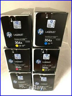 Lot of 6 OEM HP Color Toner