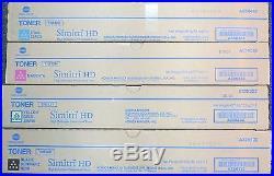 MINT Set 4 Factory Sealed Konica Minolta TN512K TN512M TN512Y TN512C Toners