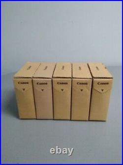 New Genuine Canon Pfi-301 set of 5 Ink tank G, Y, M, BK, PC ImagePROGRAF 8100 9100