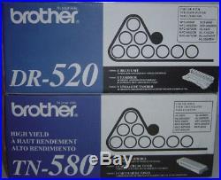 New Genuine Factory Sealed Brother TN-580 Toner Cartridge DR-520 Imaging Drum